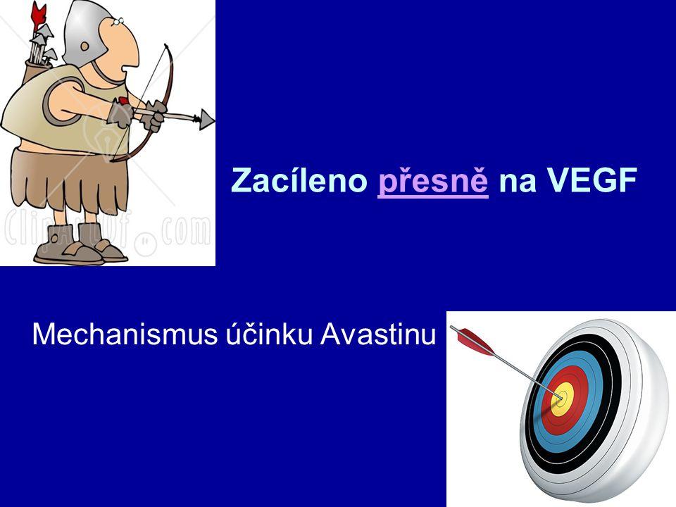 Zacíleno přesně na VEGF Mechanismus účinku Avastinu