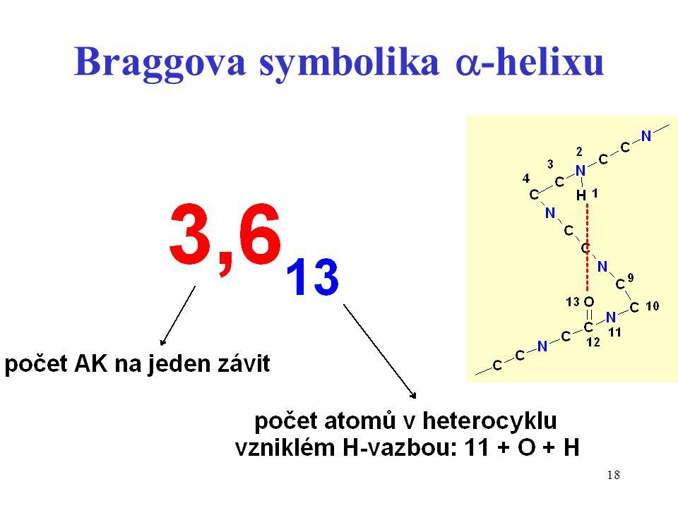 18 Braggova symbolika  -helixu