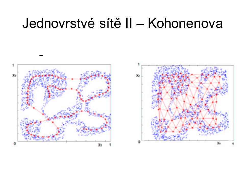 Jednovrstvé sítě II – Kohonenova