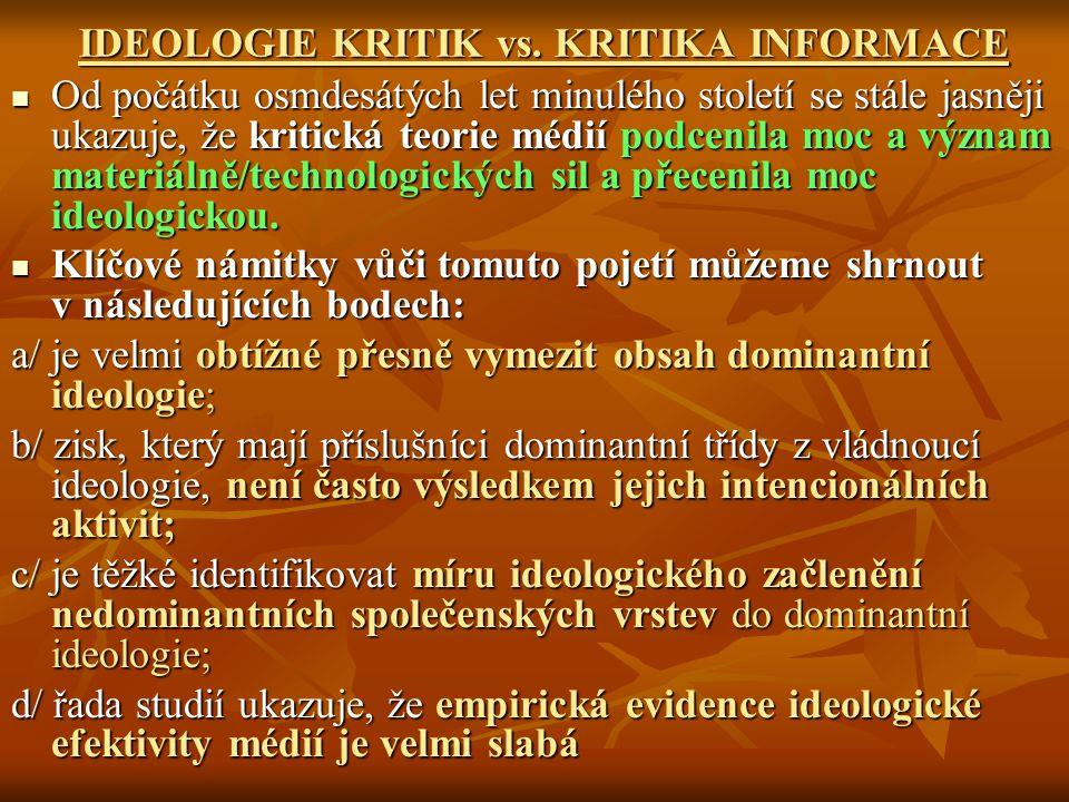 IDEOLOGIE KRITIK vs.