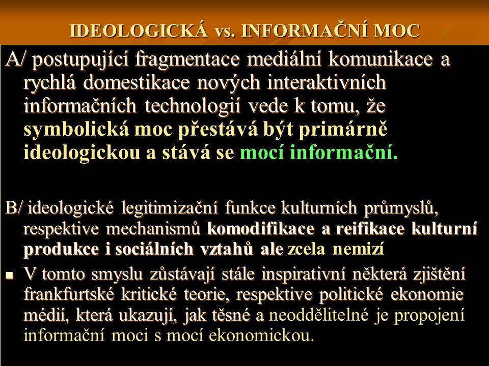 IDEOLOGICKÁ vs.