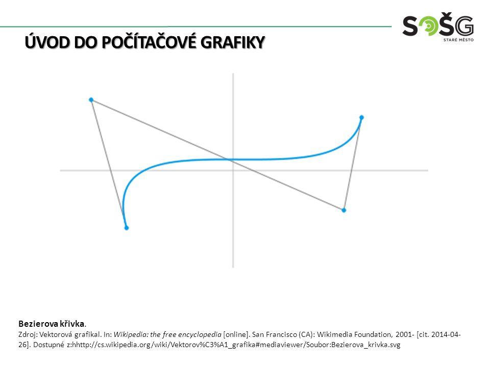 ÚVOD DO POČÍTAČOVÉ GRAFIKY Bezierova křivka. Zdroj: Vektorová grafikal.
