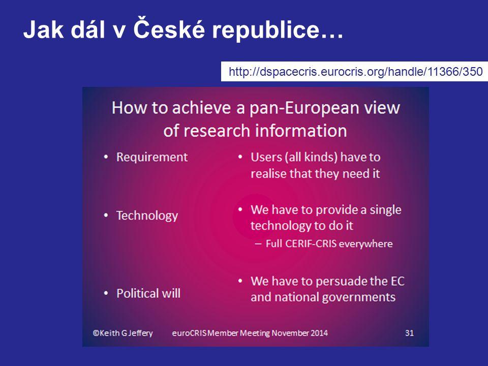 http://dspacecris.eurocris.org/handle/11366/350 Jak dál v České republice…