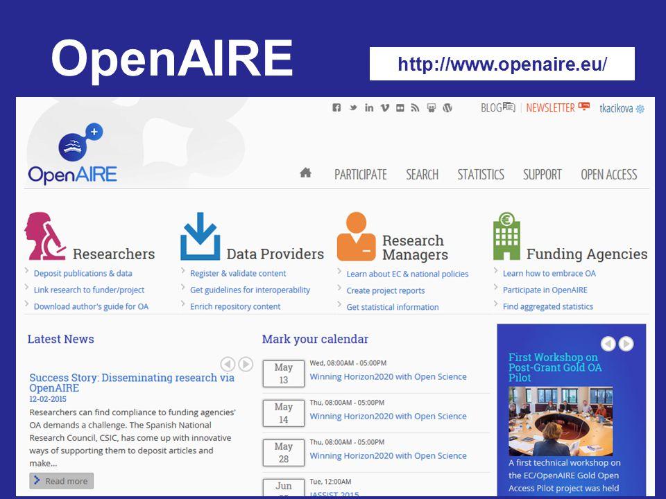 http://www.openaire.eu/ OpenAIRE