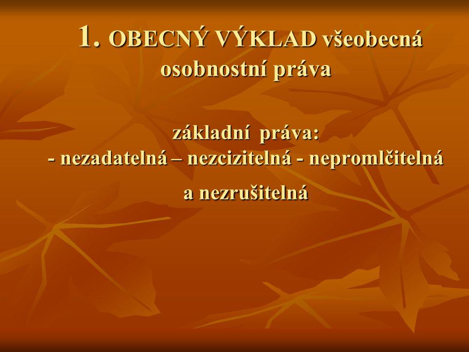 PROSTŘEDKY OCHRANY VŠEOBECNÝCH OSOBNOSTNÍCH PRÁV II.