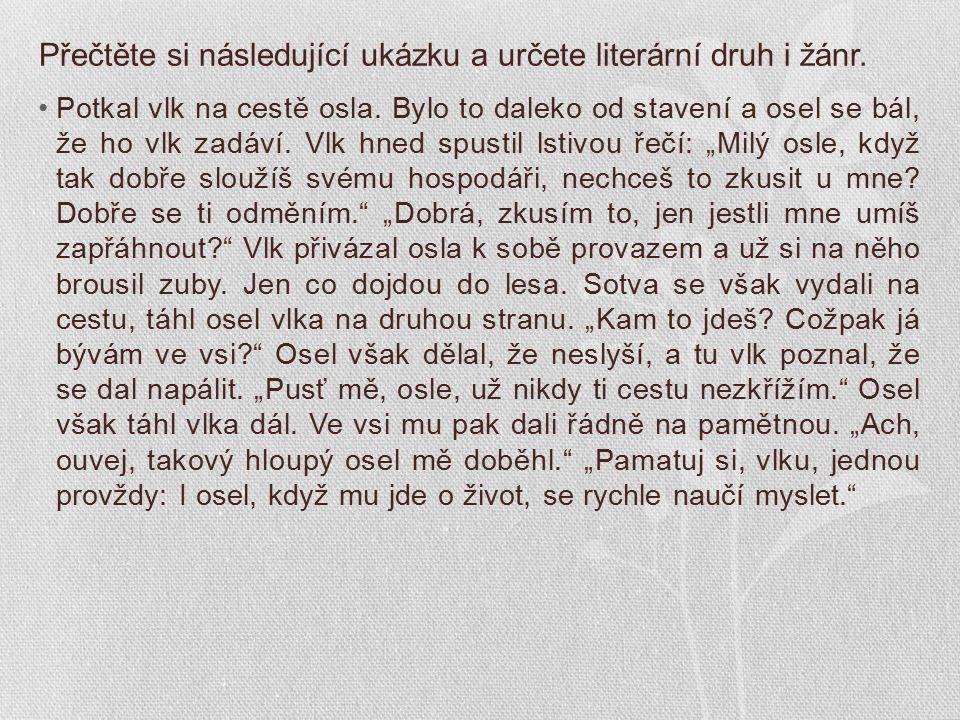Epika - bajka O VLKOVI A OSLU JEŠTĚ JEDNOU BAJKY JOSEF LADA