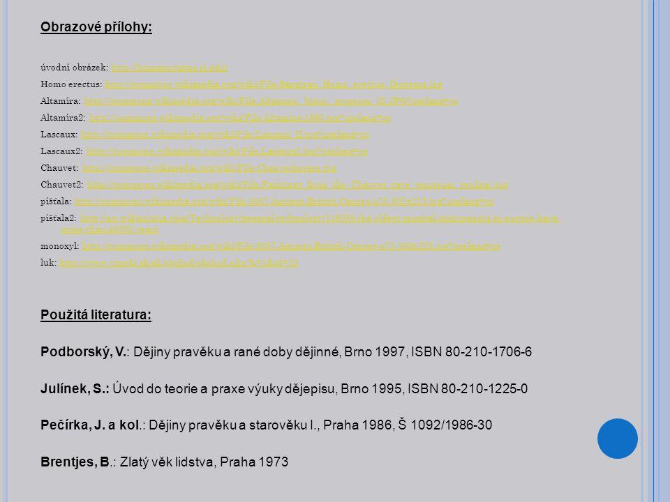 Obrazové přílohy: úvodní obrázek: http://humanorigins.si.edu/http://humanorigins.si.edu/ Homo erectus: http://commons.wikimedia.org/wiki/File:Sangiran