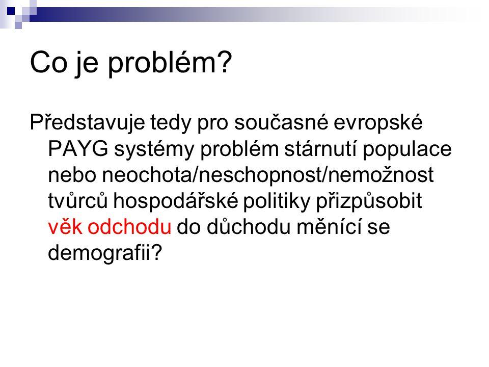 Co je problém.