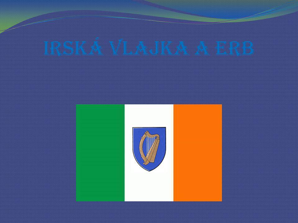 Irská vlajka a erb