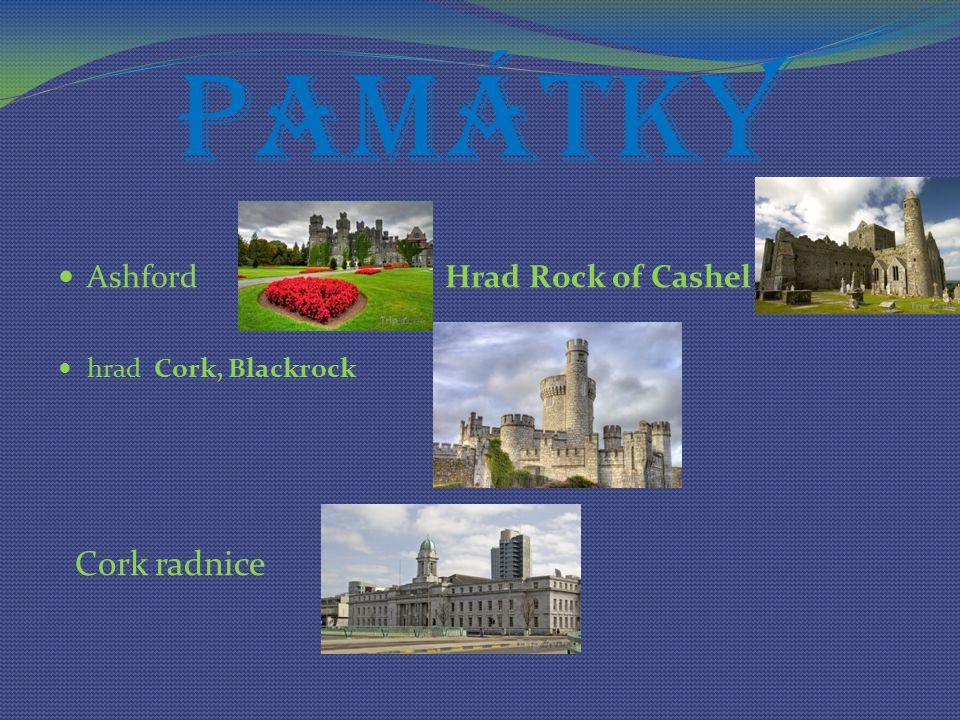 Památky Ashford Hrad Rock of Cashel hrad Cork, Blackrock Cork radnice