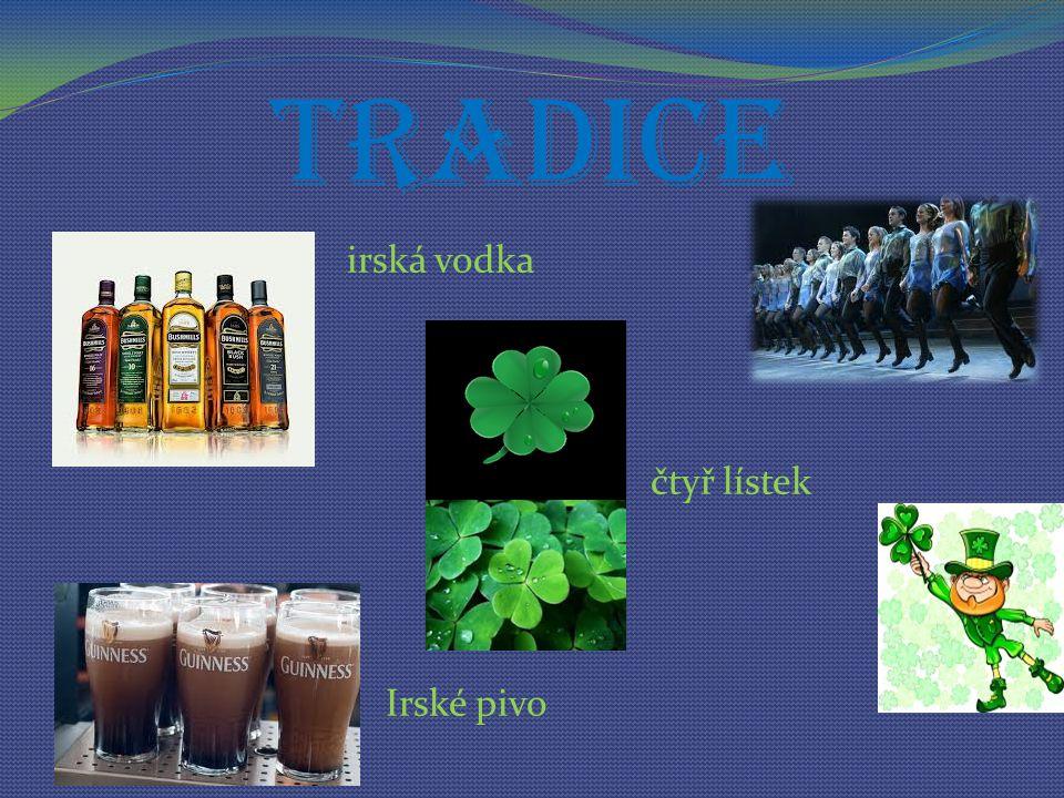 Tradice irská vodka čtyř lístek Irské pivo