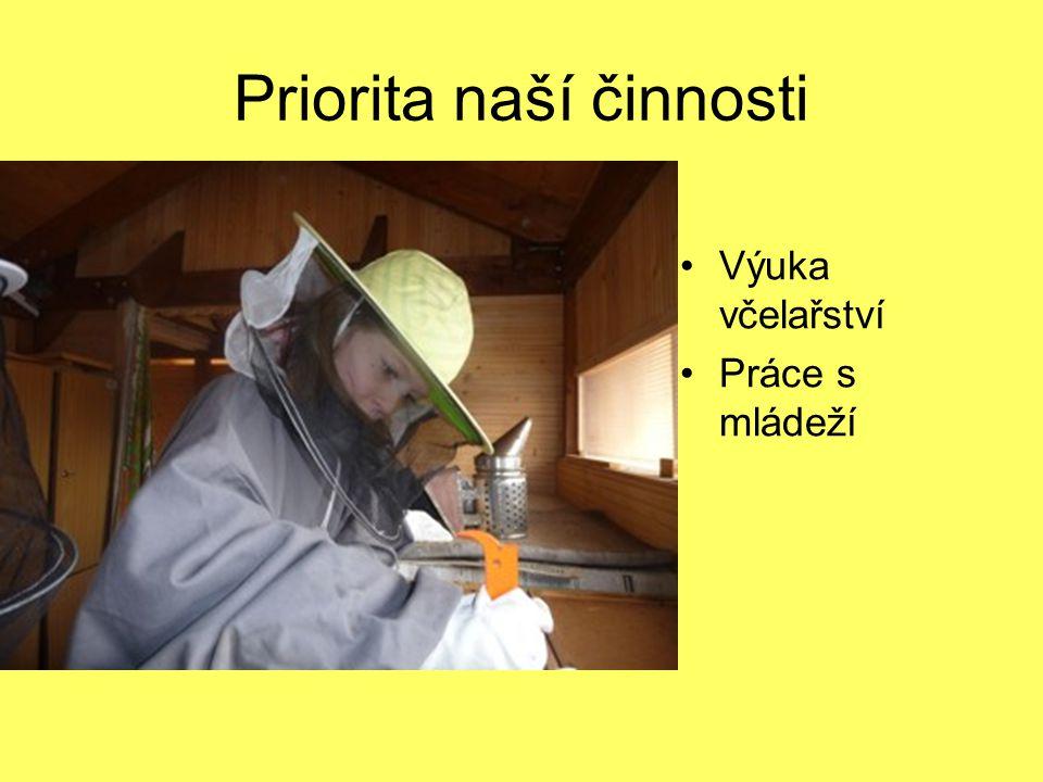 Priorita naší činnosti Výuka včelařství Práce s mládeží