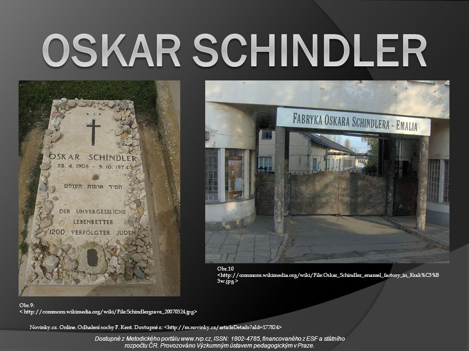 Obr.10 Obr.9: Novinky.cz. Online. Odhalení sochy F. Kent. Dostupné z: Dostupné z Metodického portálu www.rvp.cz, ISSN: 1802-4785, financovaného z ESF