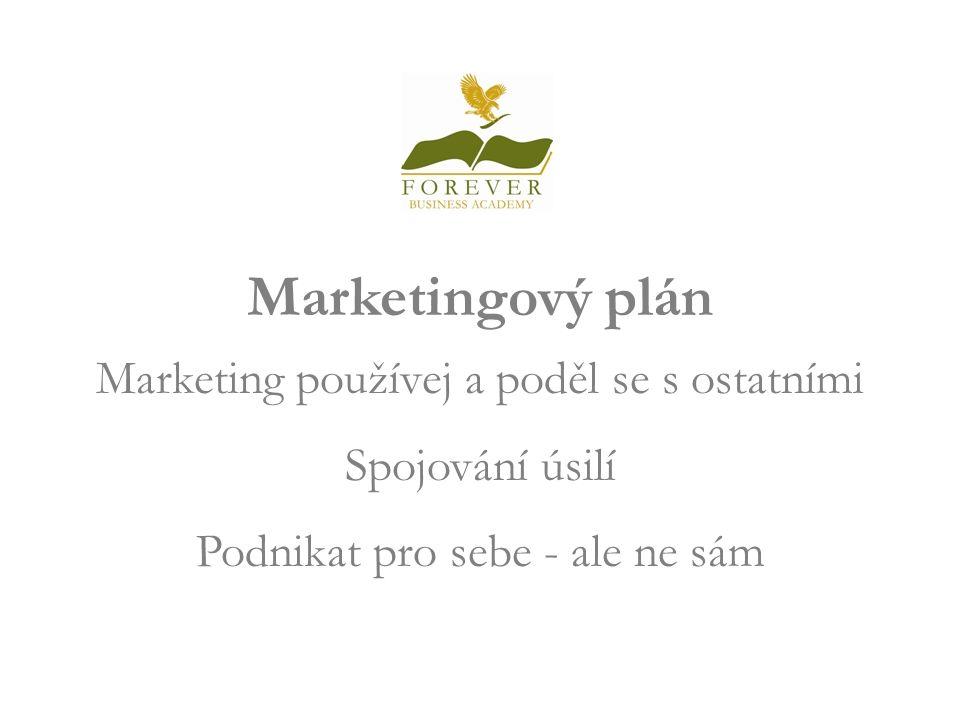 Marketingový plán Marketing používej a poděl se s ostatními Spojování úsilí Podnikat pro sebe - ale ne sám Welcome