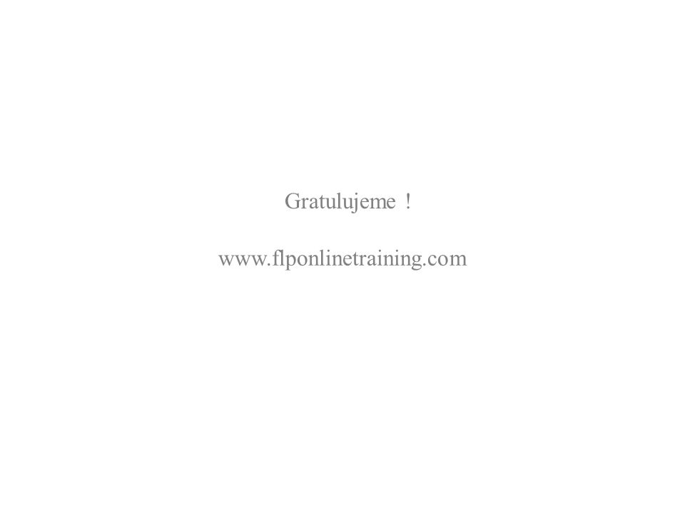Gratulujeme ! www.flponlinetraining.com