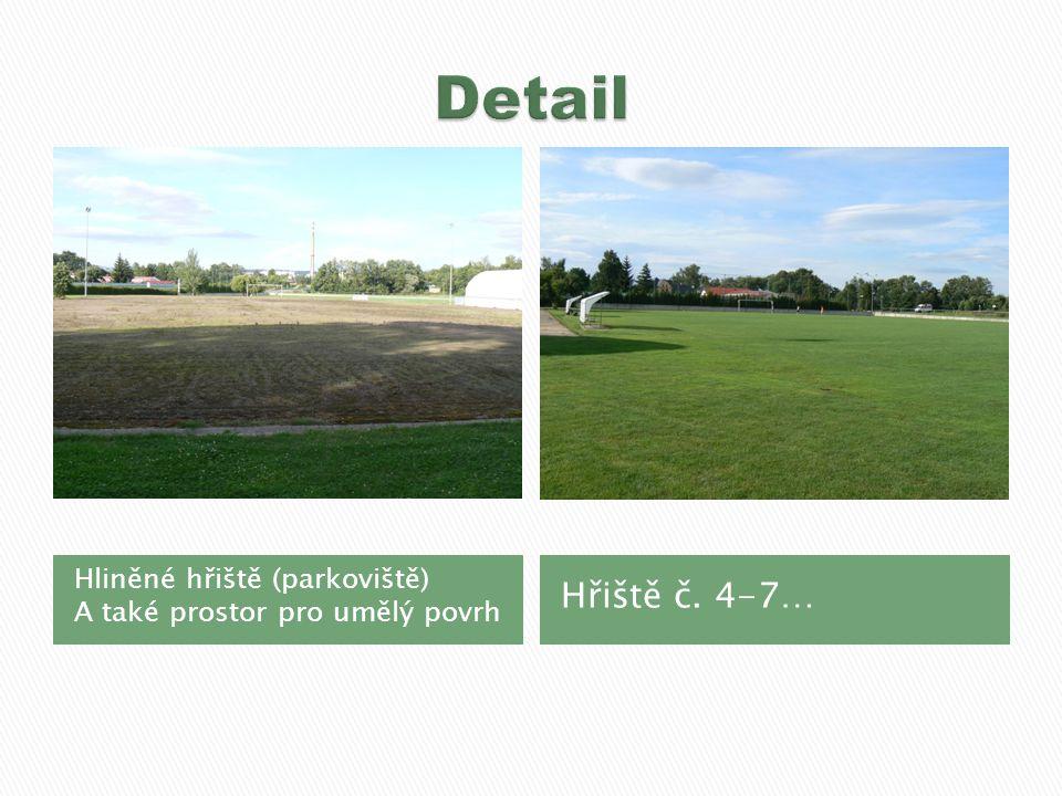 Hliněné hřiště (parkoviště) A také prostor pro umělý povrh Hřiště č. 4-7…
