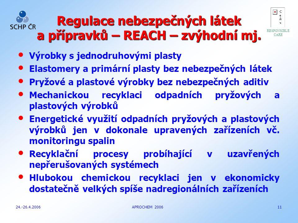 Regulace nebezpečných látek a přípravků – REACH – zvýhodní mj.