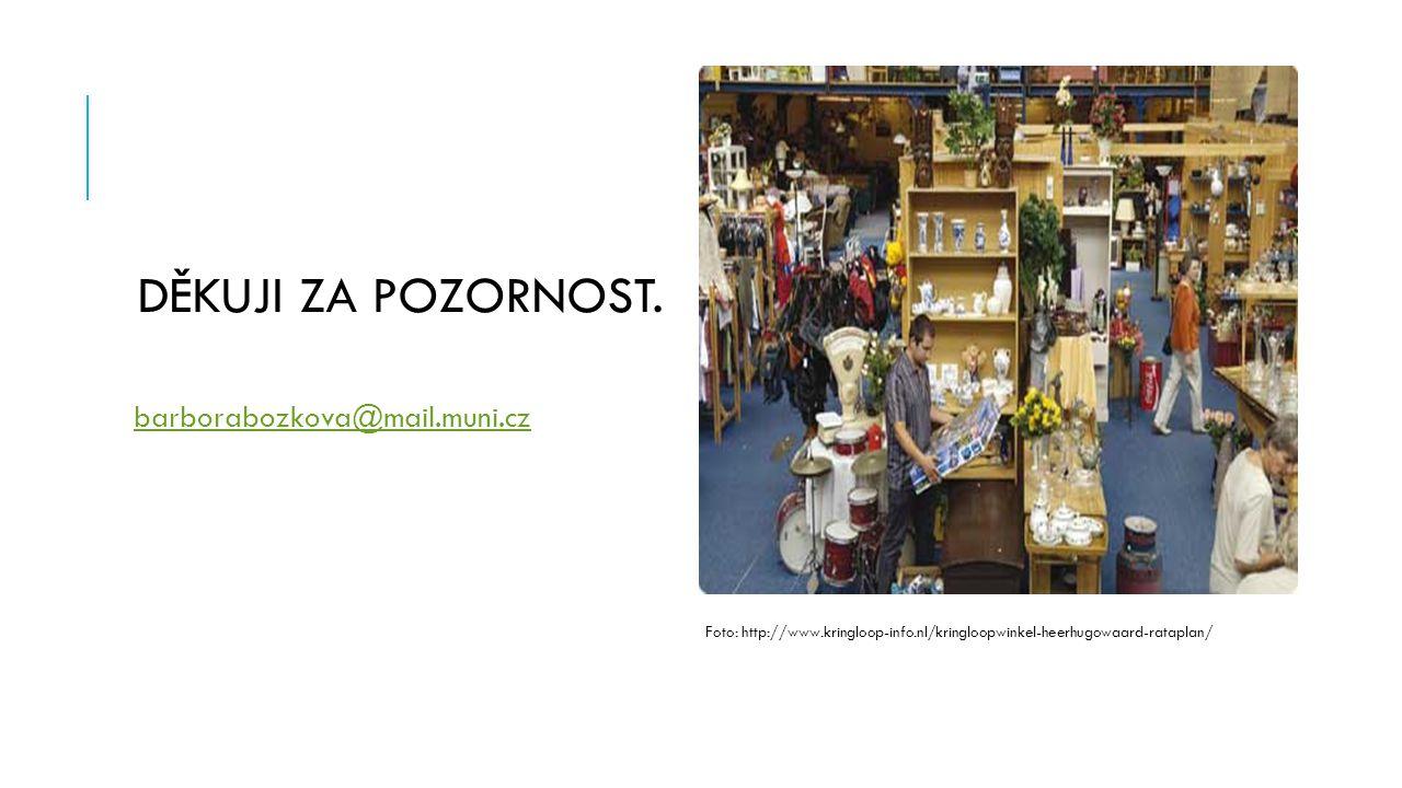 DĚKUJI ZA POZORNOST. barborabozkova@mail.muni.cz Foto: http://www.kringloop-info.nl/kringloopwinkel-heerhugowaard-rataplan/