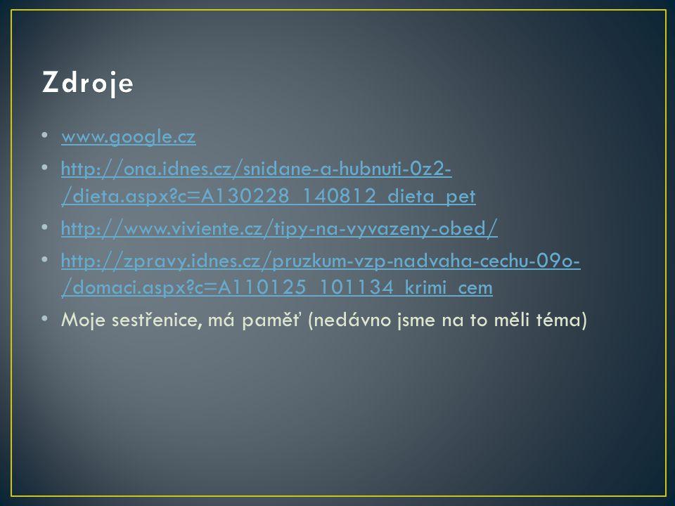 www.google.cz http://ona.idnes.cz/snidane-a-hubnuti-0z2- /dieta.aspx?c=A130228_140812_dieta_pet http://ona.idnes.cz/snidane-a-hubnuti-0z2- /dieta.aspx
