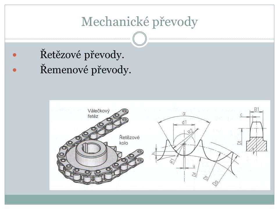 Mechanické převody Řetězové převody. Řemenové převody.