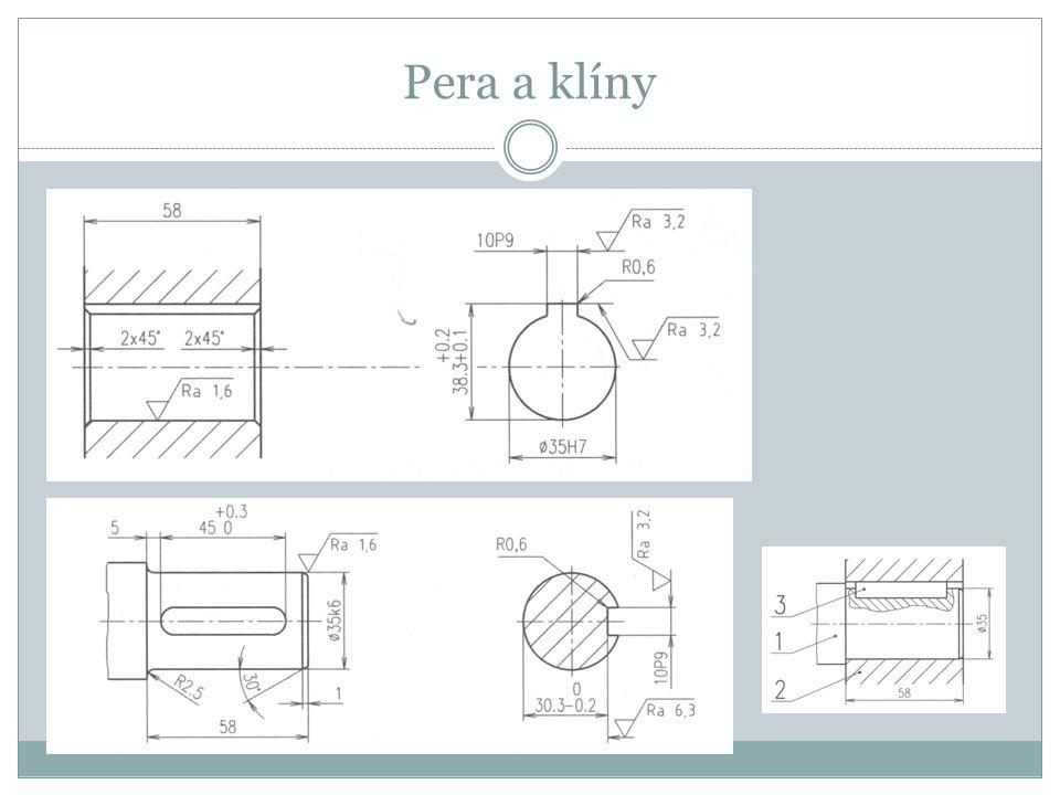 Hřídele a jejich tvarové prvky Drážkové spojení hřídele a náboje (označování dle ČSN a kreslení).