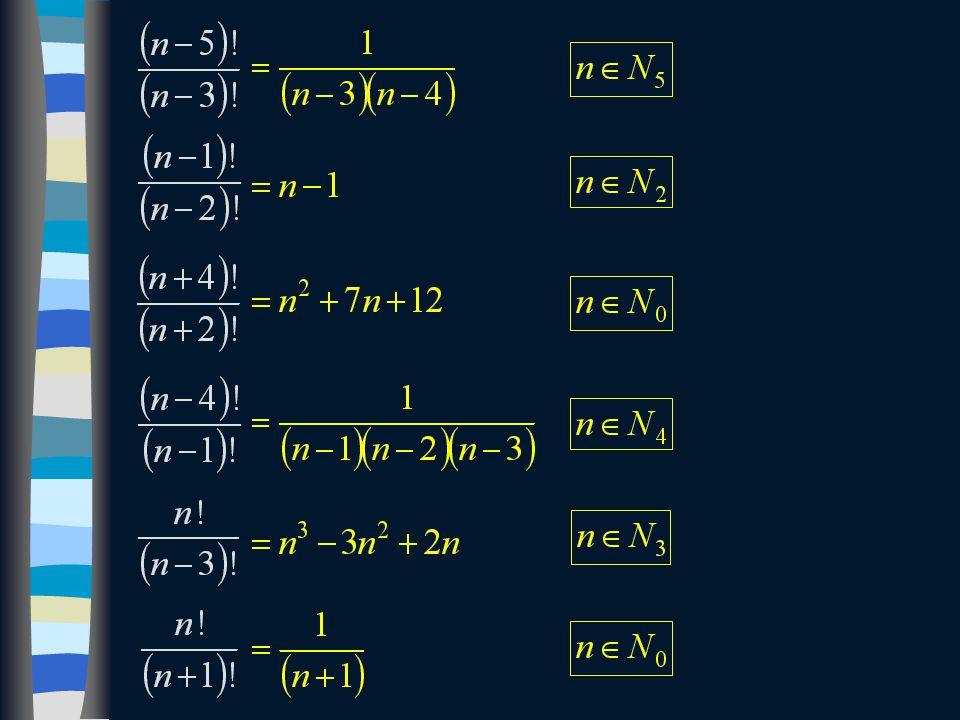 Příklad: Vypočtěte a napište podmínky řešitelnosti.
