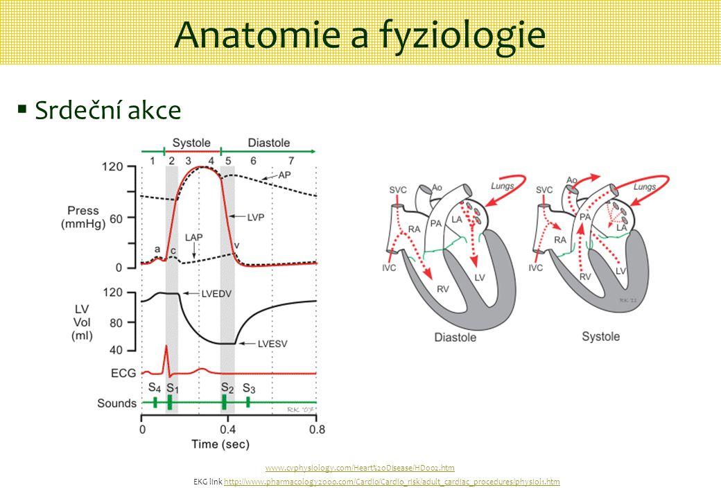 www.cvphysiology.com/Heart%20Disease/HD002.htm Anatomie a fyziologie  Srdeční akce EKG link http://www.pharmacology2000.com/Cardio/Cardio_risk/adult_