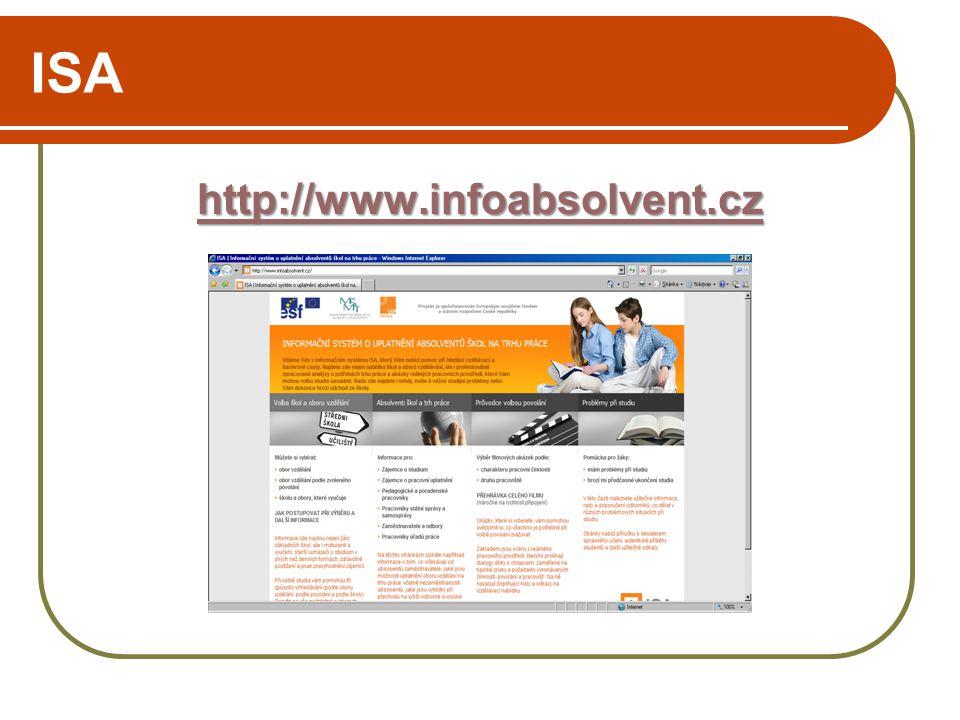 ISA http://www.infoabsolvent.cz