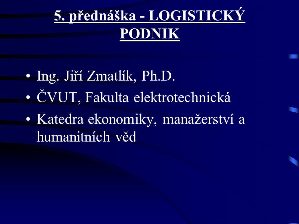 5. přednáška - LOGISTICKÝ PODNIK Ing. Jiří Zmatlík, Ph.D. ČVUT, Fakulta elektrotechnická Katedra ekonomiky, manažerství a humanitních věd