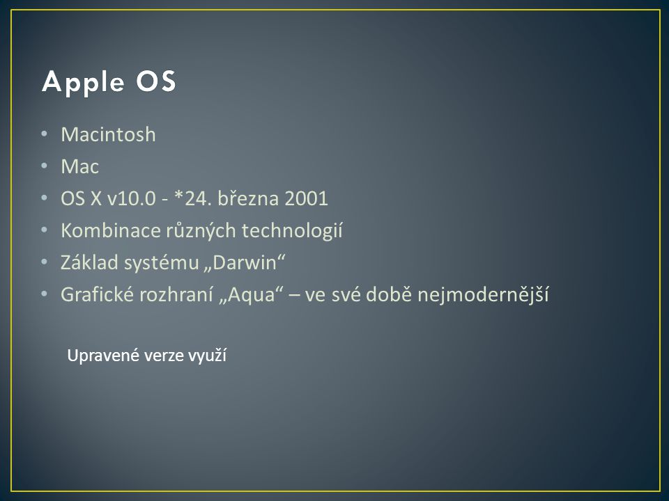 Macintosh Mac OS X v10.0 - *24.