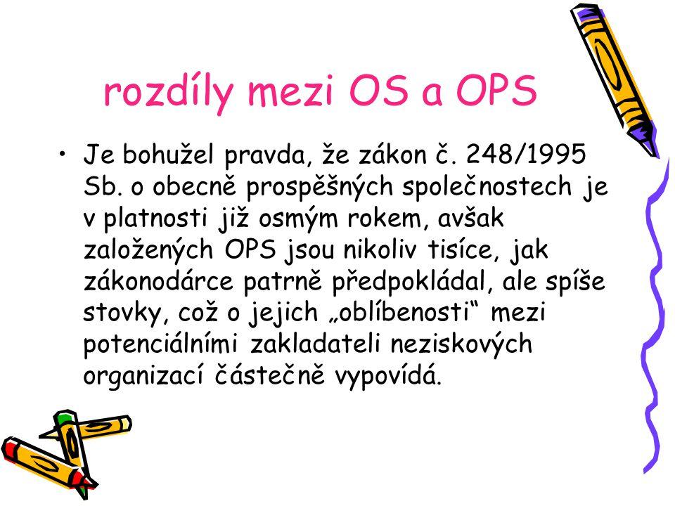 rozdíly mezi OS a OPS Je bohužel pravda, že zákon č.