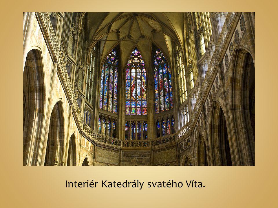 Interiér Katedrály svatého Víta.