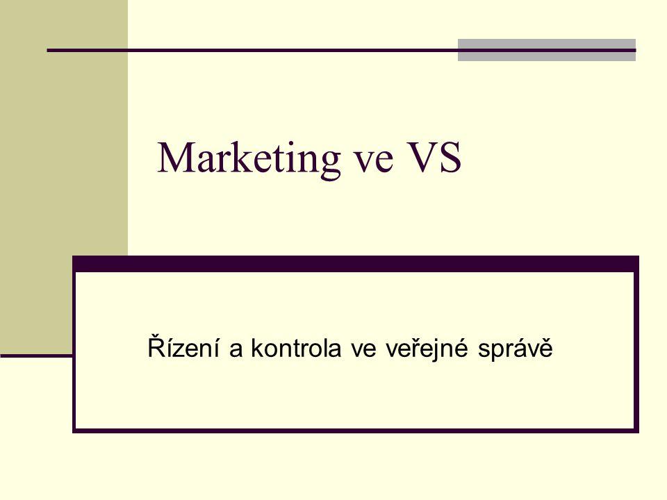 Marketing ve VS Řízení a kontrola ve veřejné správě