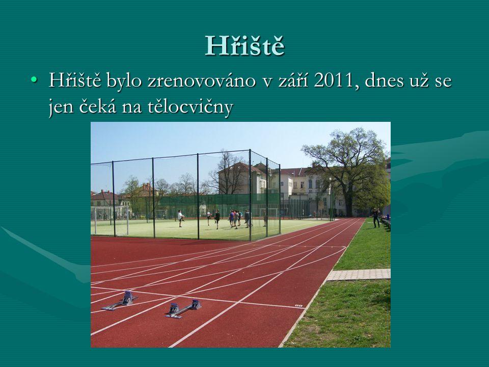Hřiště Hřiště bylo zrenovováno v září 2011, dnes už se jen čeká na tělocvičnyHřiště bylo zrenovováno v září 2011, dnes už se jen čeká na tělocvičny