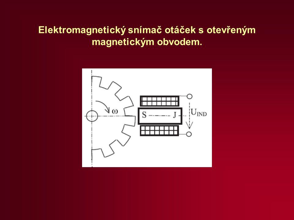Elektromagnetický snímač otáček s otevřeným magnetickým obvodem.