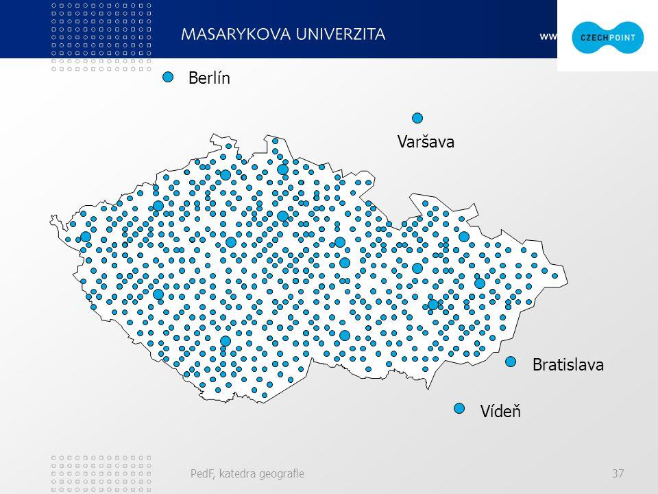 Vídeň Berlín Varšava Bratislava PedF, katedra geografie37