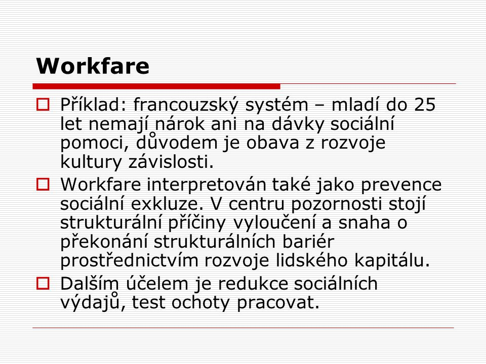 Nástroje  Směřování: -Ke zdravotně postiženým s cílem zvýšení jejich zaměstnanosti.