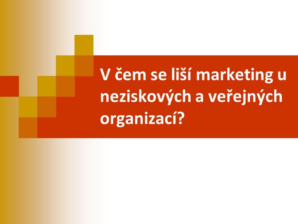 V čem se liší marketing u neziskových a veřejných organizací?