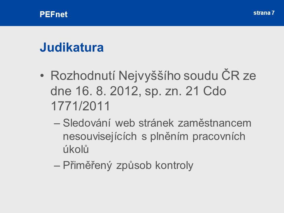 strana 7 Judikatura Rozhodnutí Nejvyššího soudu ČR ze dne 16.