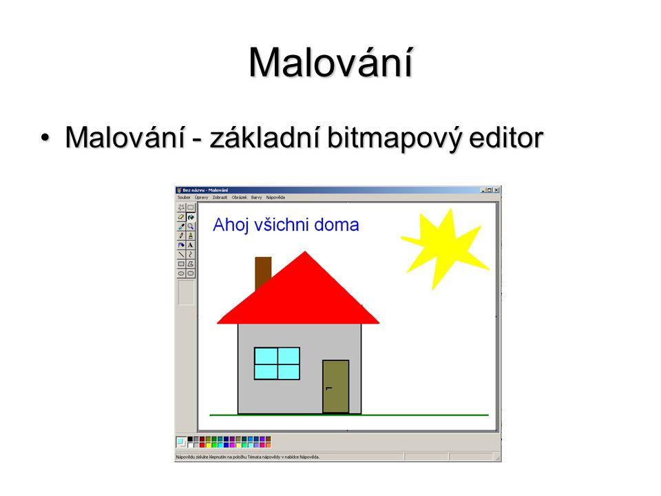Malování Malování - základní bitmapový editorMalování - základní bitmapový editor