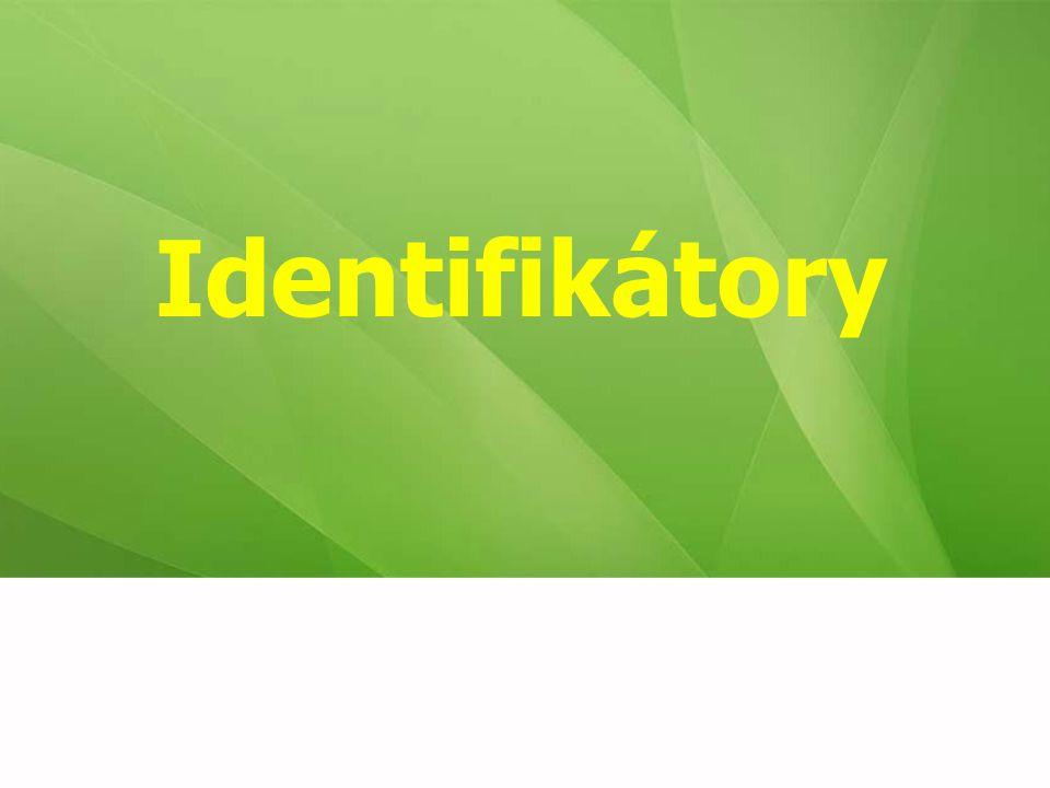 Identifikátory