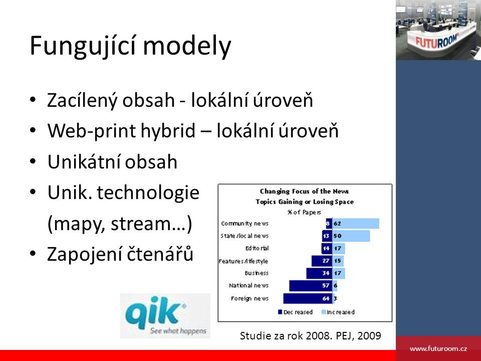 Fungující modely Zacílený obsah - lokální úroveň Web-print hybrid – lokální úroveň Unikátní obsah Unik.