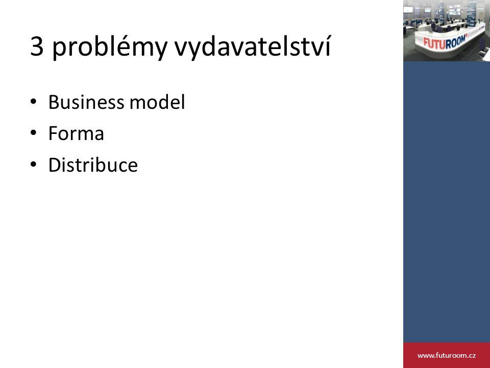 3 problémy vydavatelství Business model Forma Distribuce www.futuroom.cz