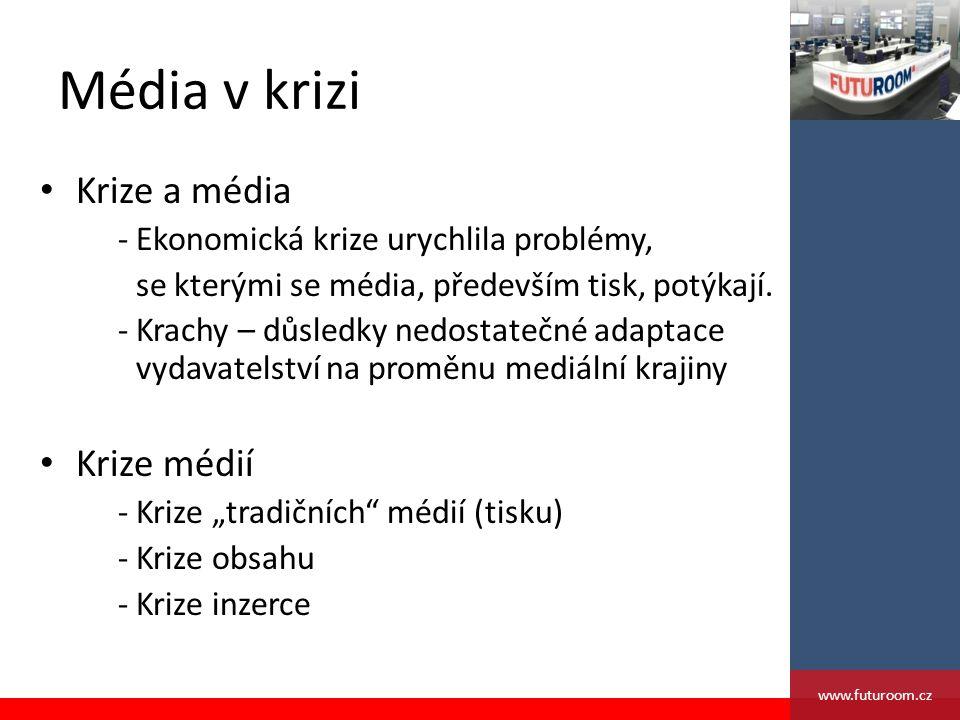 Média v krizi Krize a média - Ekonomická krize urychlila problémy, se kterými se média, především tisk, potýkají.
