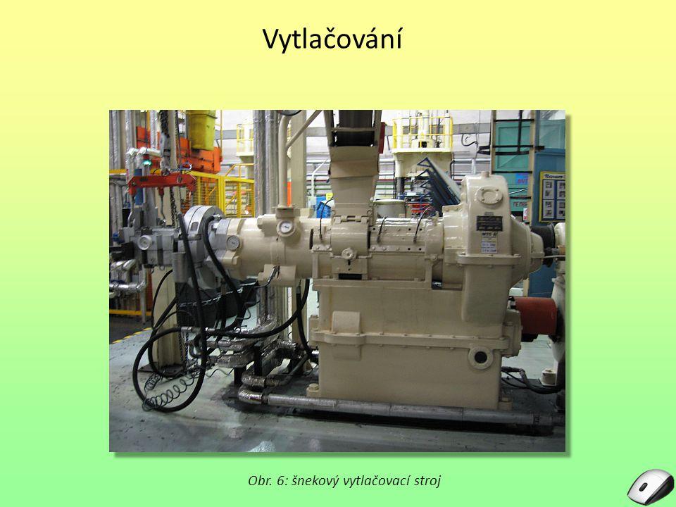 Vytlačování Obr. 6: šnekový vytlačovací stroj