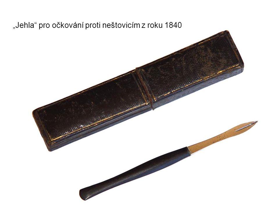 """""""Jehla"""" pro očkování proti neštovicím z roku 1840"""