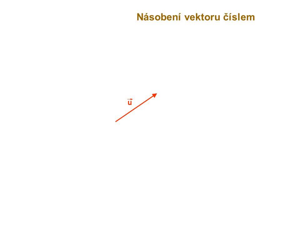 u Násobení vektoru číslem