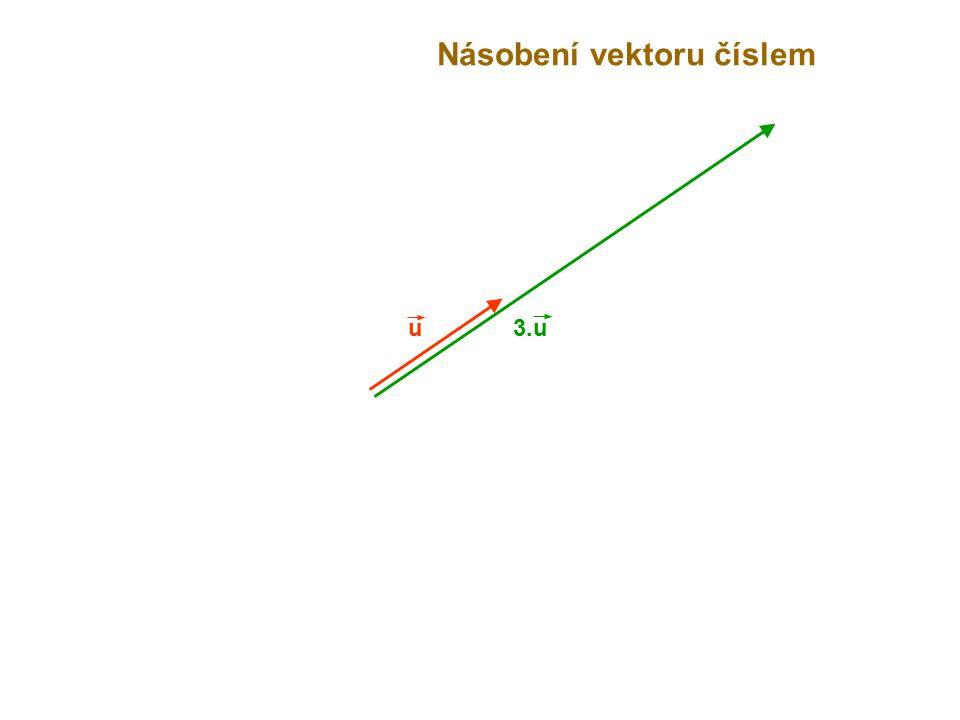 u Násobení vektoru číslem 3.u