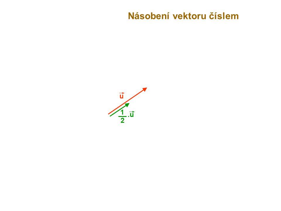 u Násobení vektoru číslem.u 2 1
