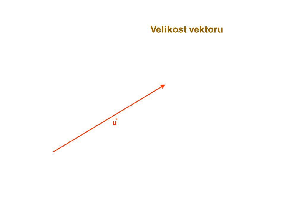 u Velikost vektoru
